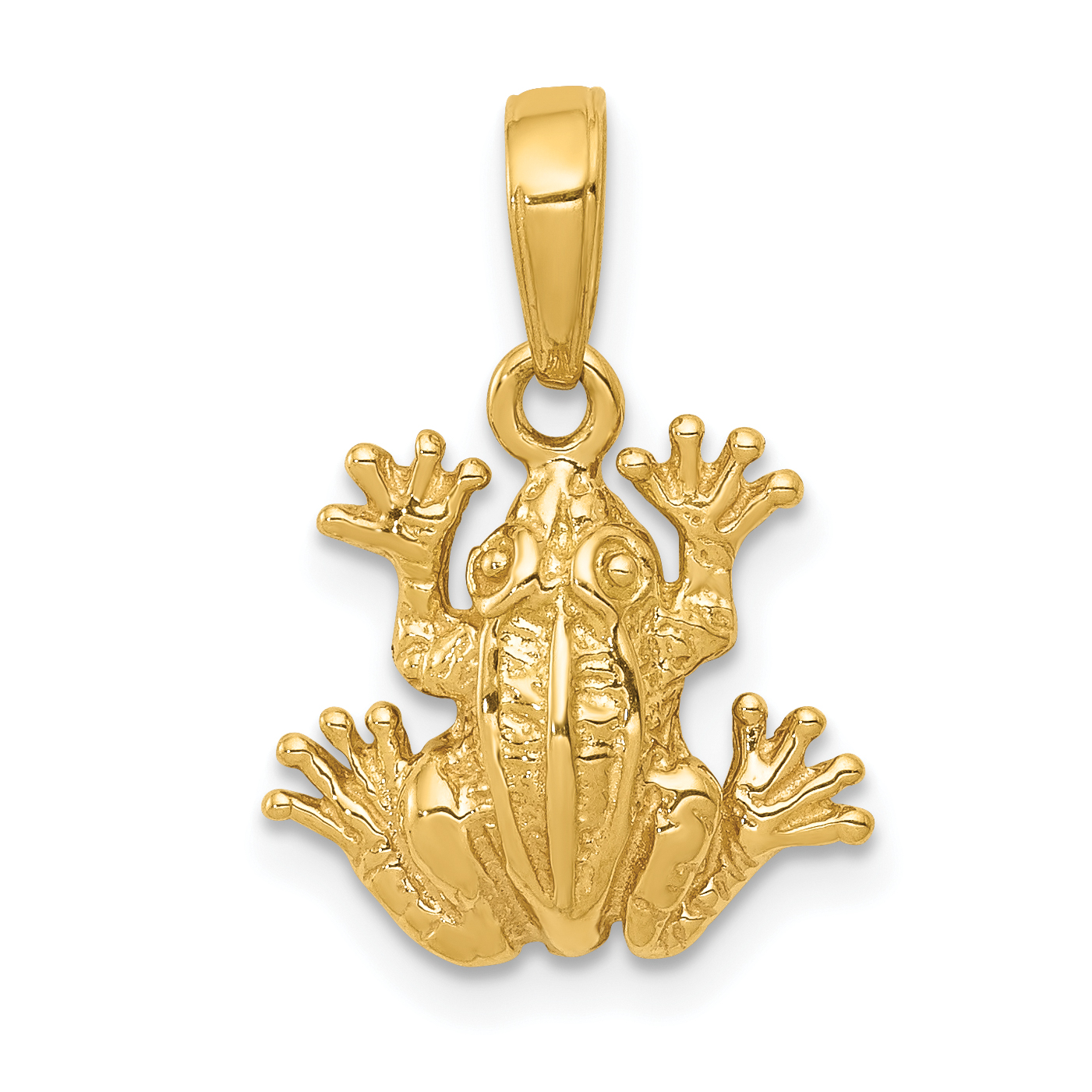 2 d frog pendant 14k 2 d frog pendant mozeypictures Image collections