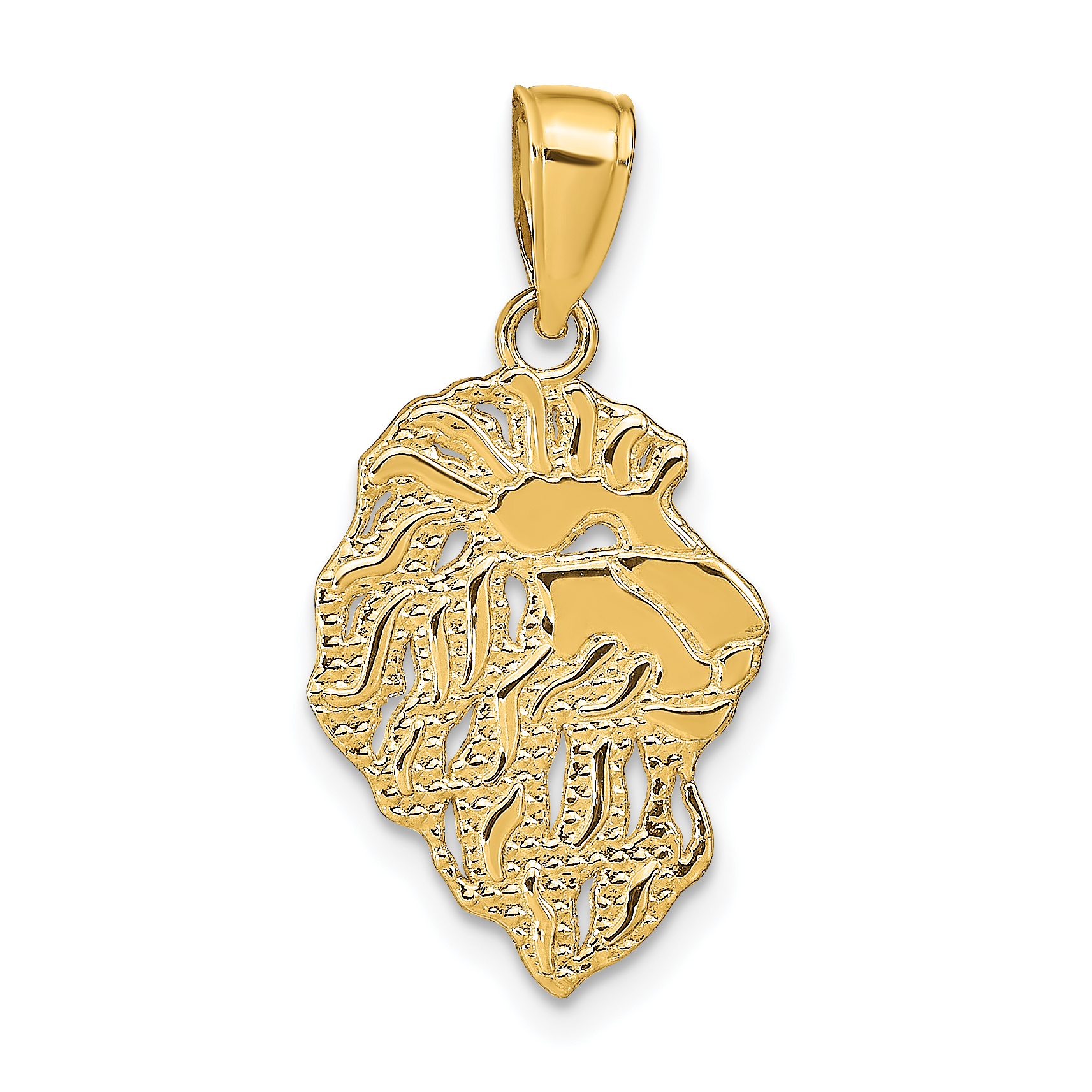 14k lion head pendant aloadofball Choice Image