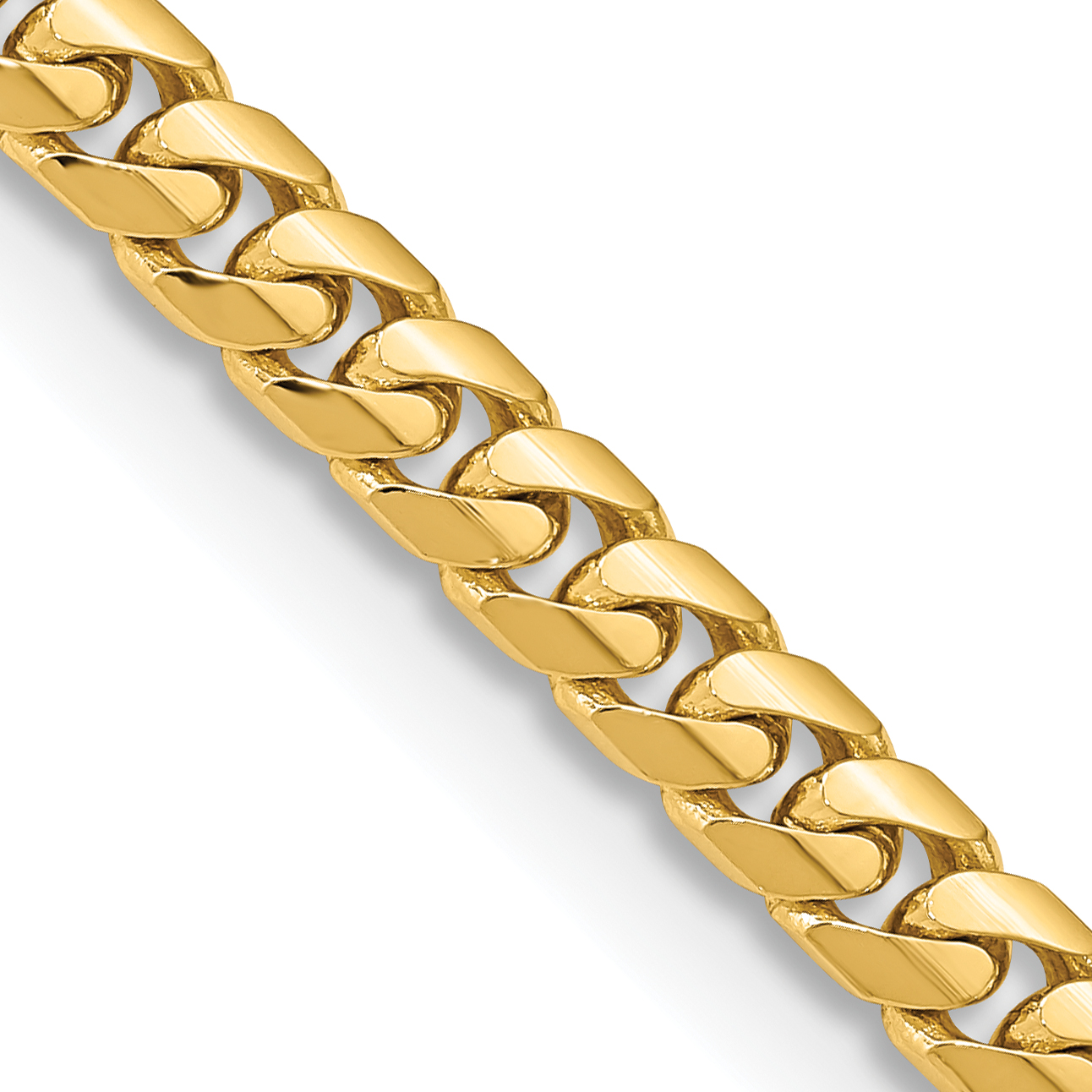 14k 5.5mm Solid Miami Cuban Chain. Weight: 41.43,  Length: 20