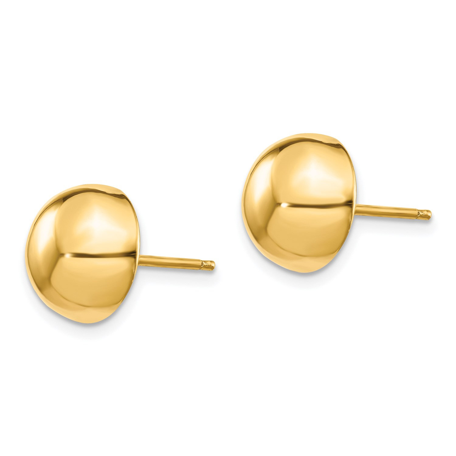 58814ed29 14k Yellow Gold Polished 10mm Half Ball Post Stud Earrings ...