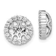 c7bb8d210 14K White Gold Diamond Earring Jackets
