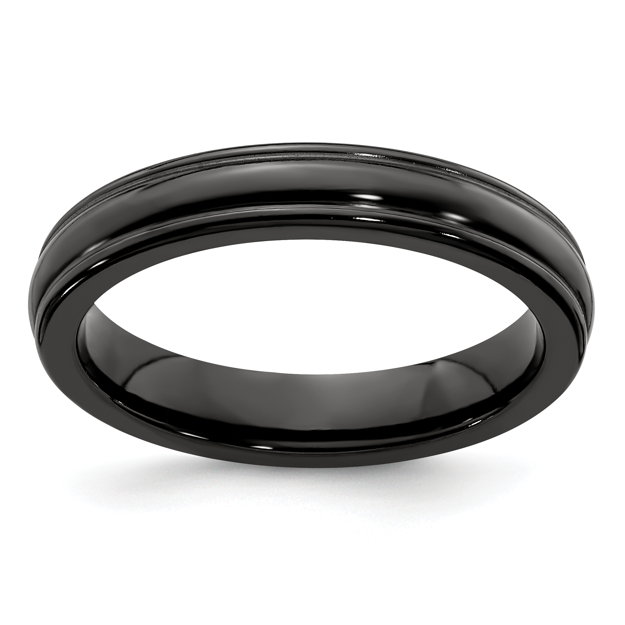 Edward Mirell Black Titanium Triple Domed 8mm Wedding Band
