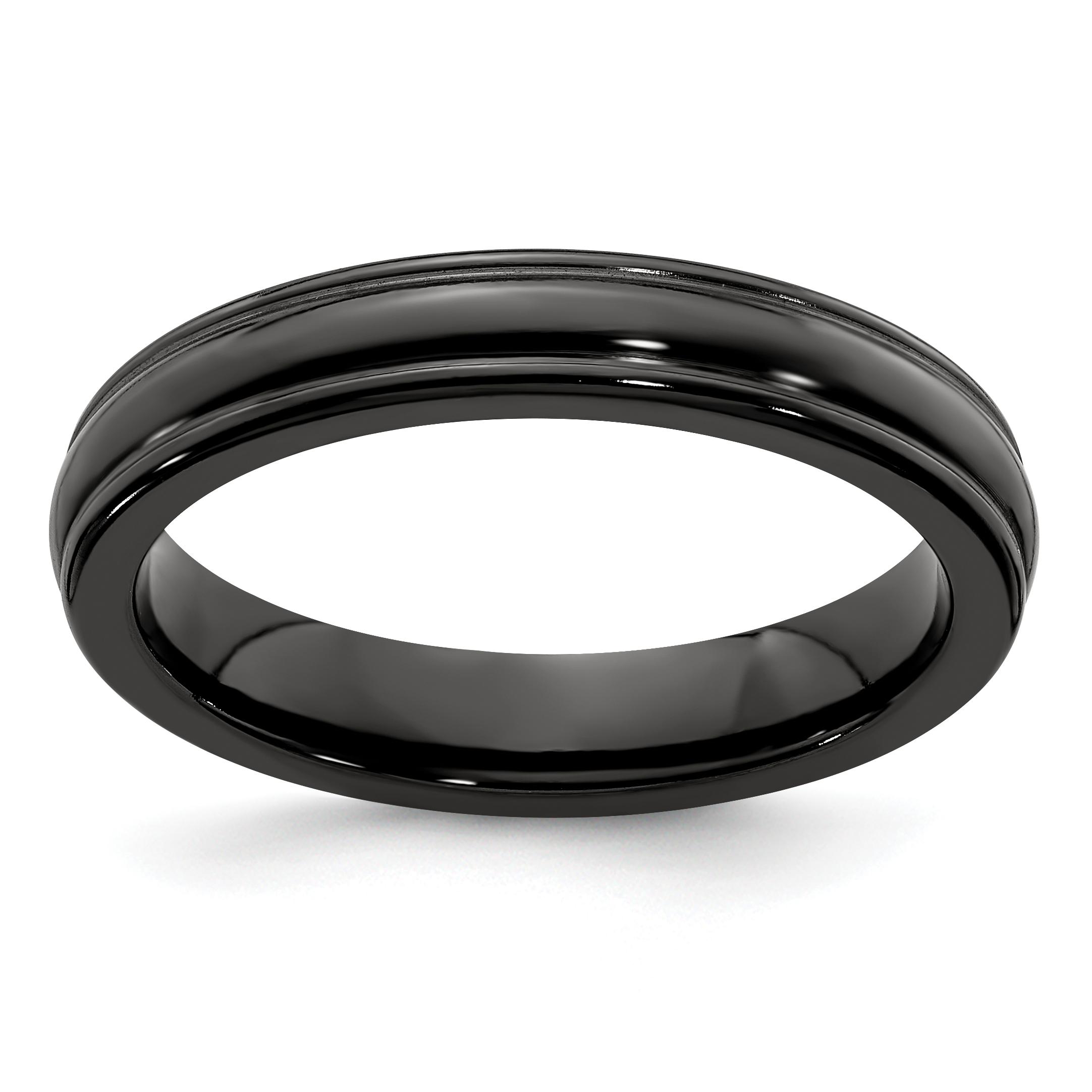 Edward Mirell Black Titanium Triple Domed 8mm Wedding Band