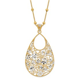 Sterling Silver Gold-tone 18k Flash Plated Necklace