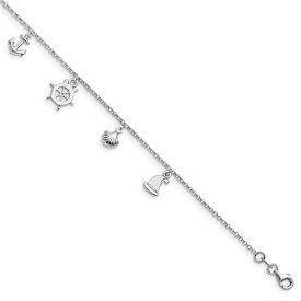 Sterling Silver Adjustable Anklet (9-10)