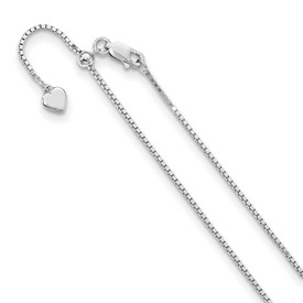Sterling Silver 11in Adjustable Box Chain