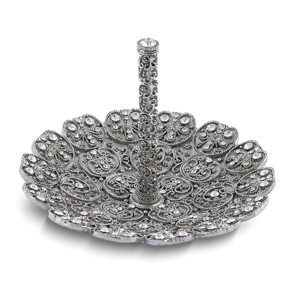 Jewel-tone w/Faux Pearl Ring Holder