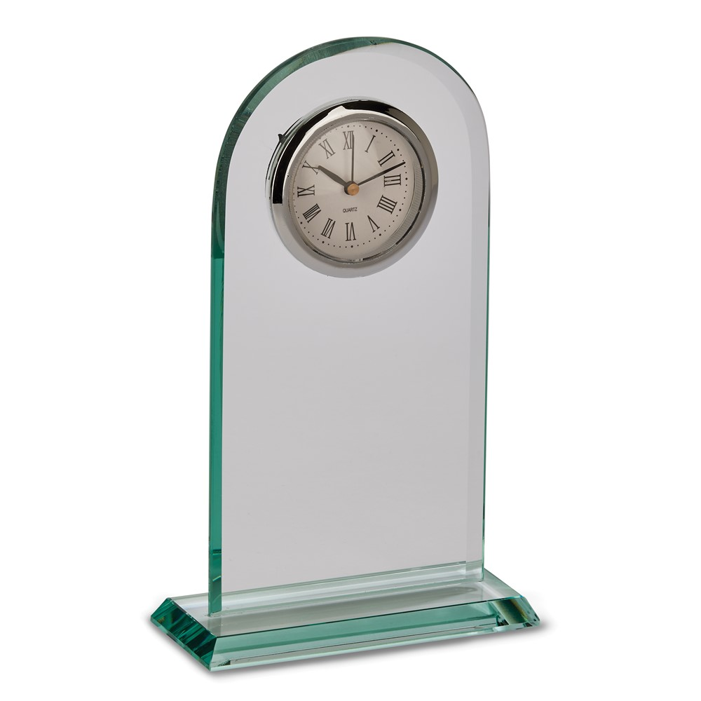 Glass Arched Clock