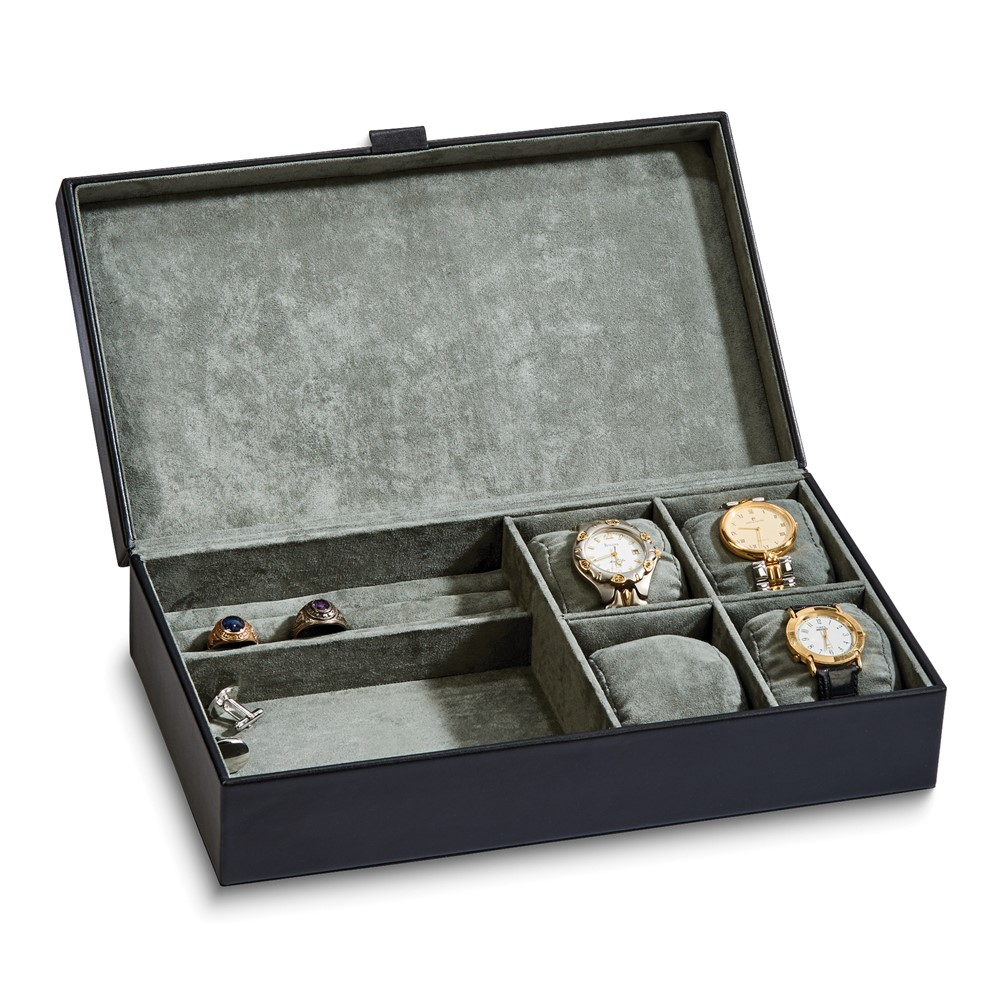 Black Leather Jewelry Box
