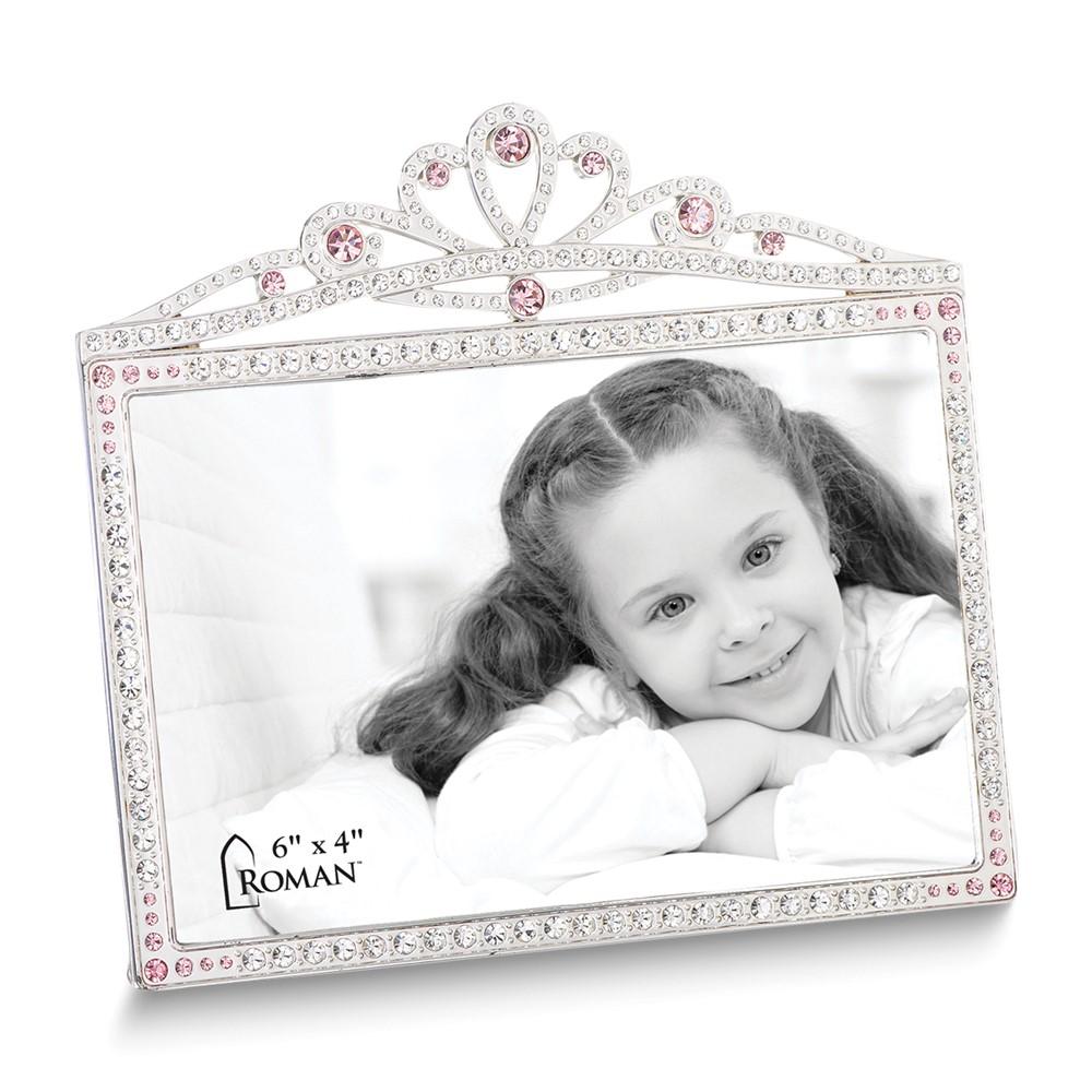 Princess w/Pink Crystals Crown 4x6 Frame