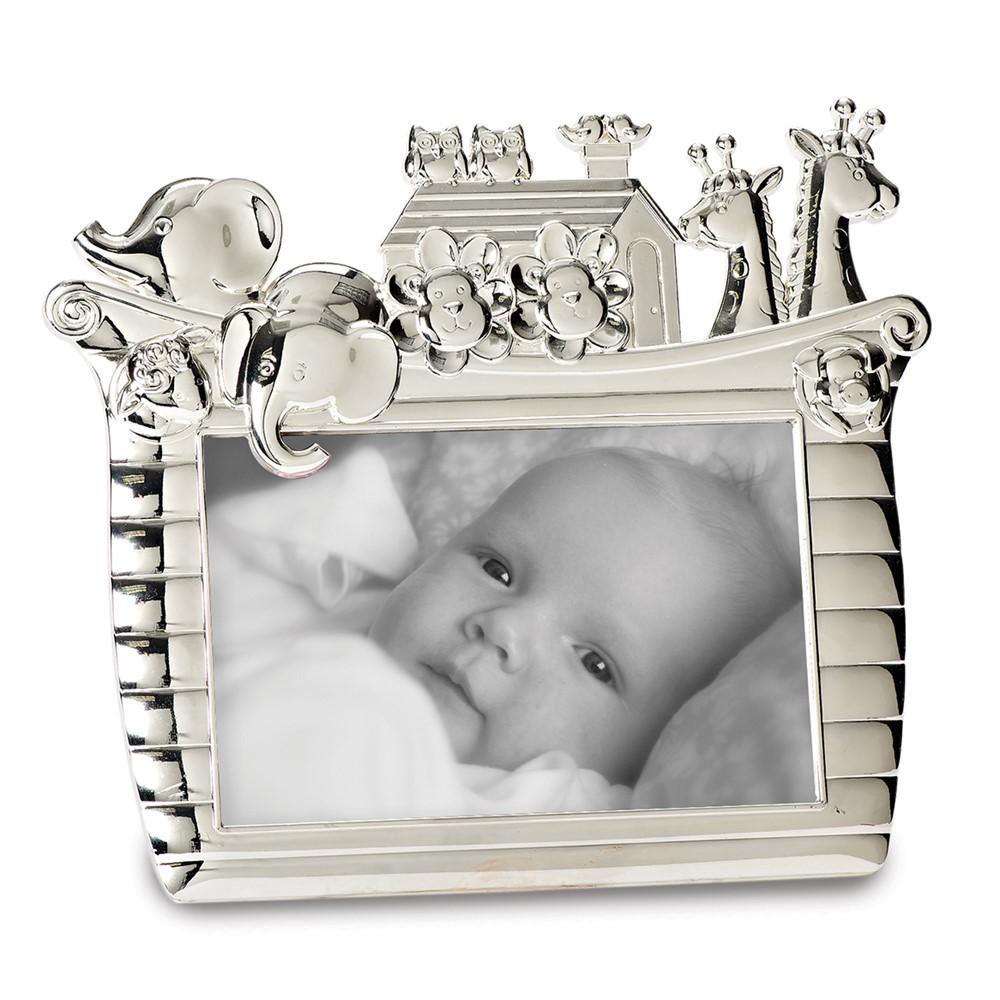 Silver-tone Noahs Ark 4x6 Photo Frame
