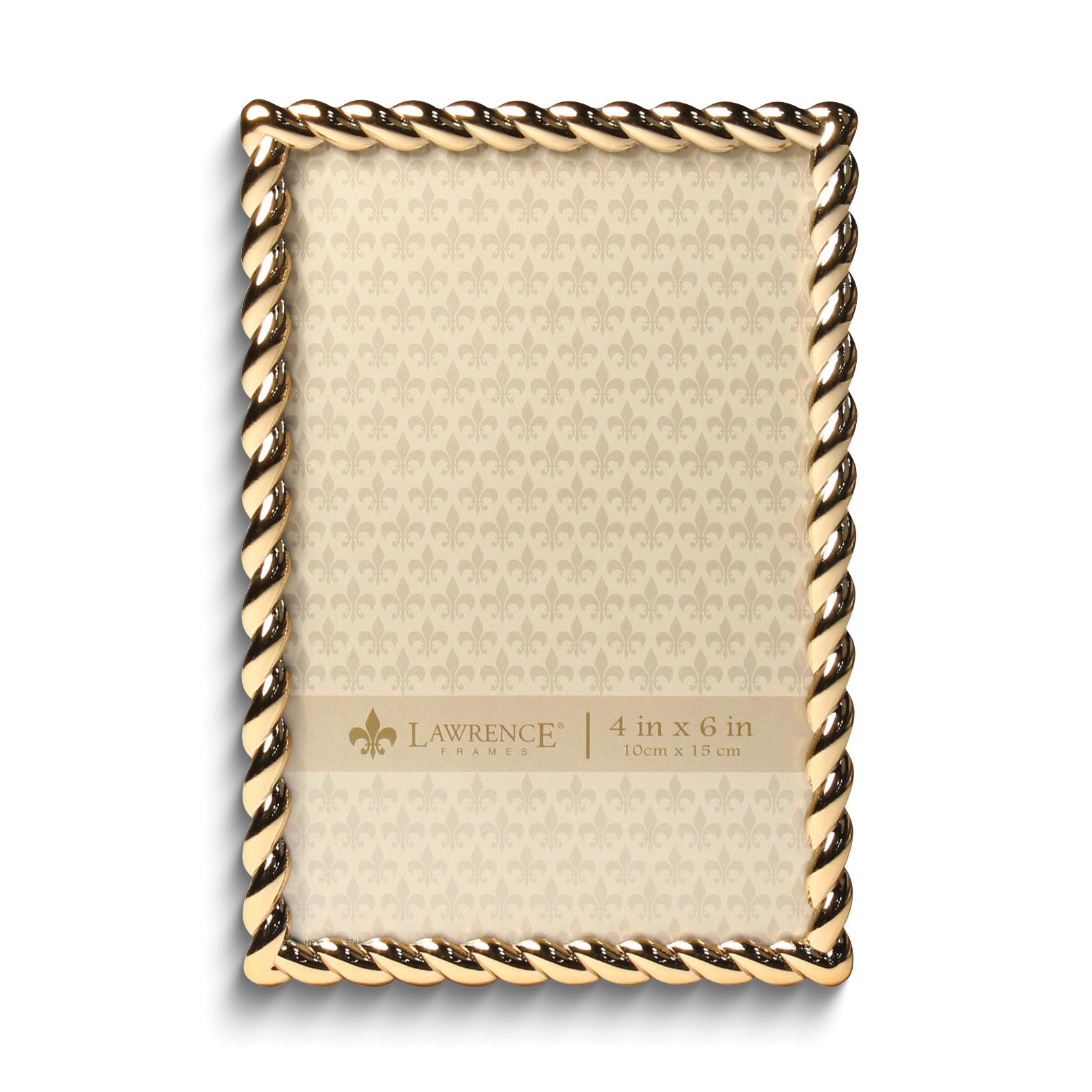 Gold-tone 4x6 Rope Photo Frame 751148070133 | eBay
