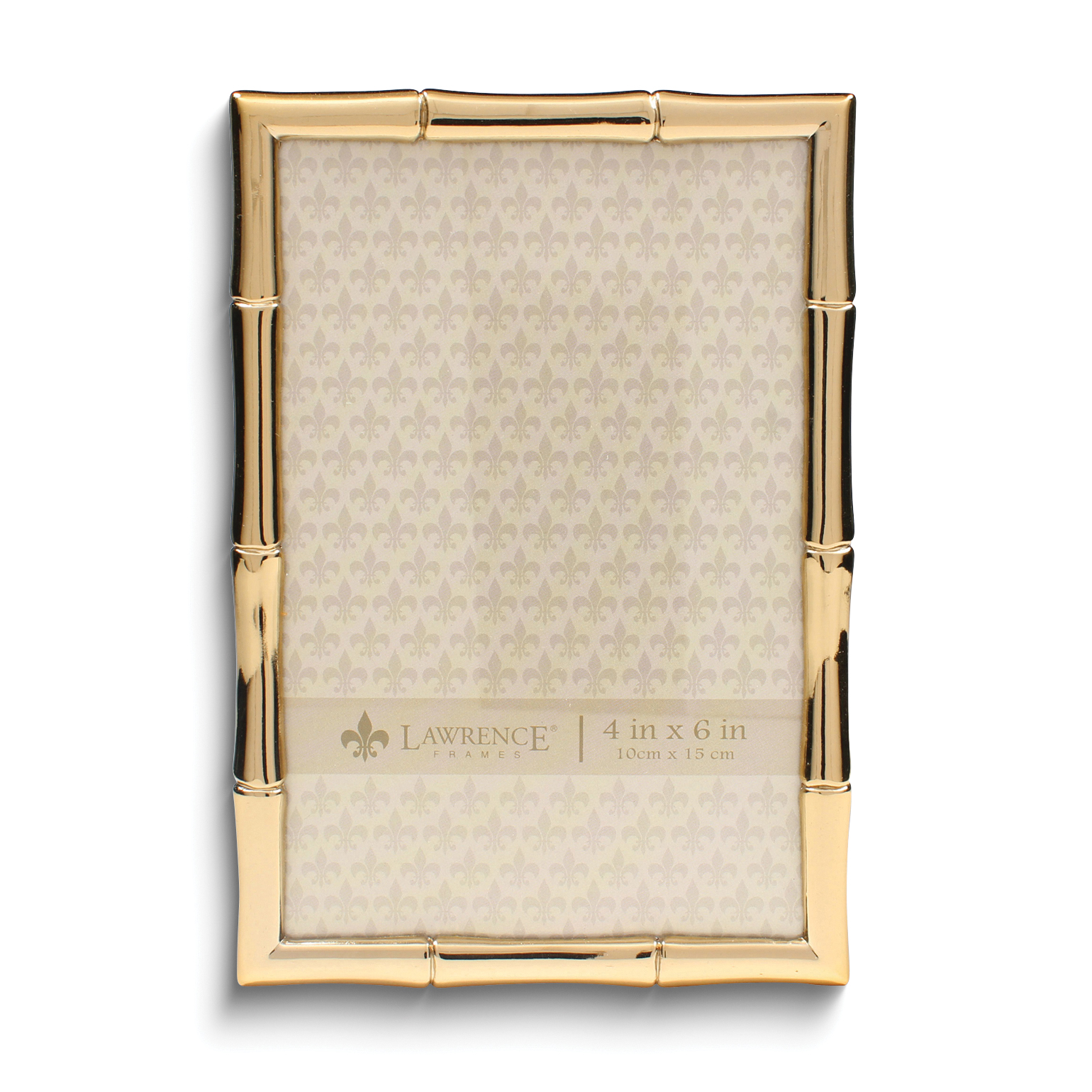 Lawrence Frames 4x6 Gold Metal Picture Frame With Bamboo Design | eBay