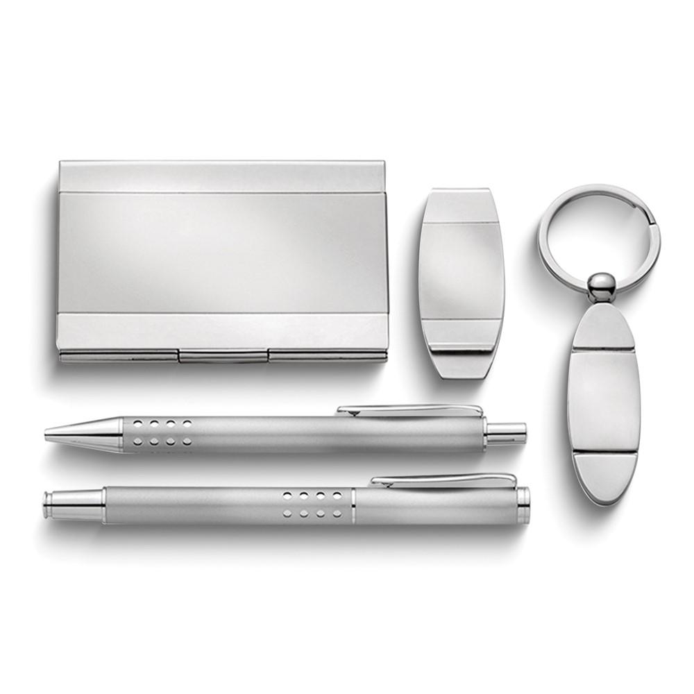Silver-tone 5-piece Desk Set