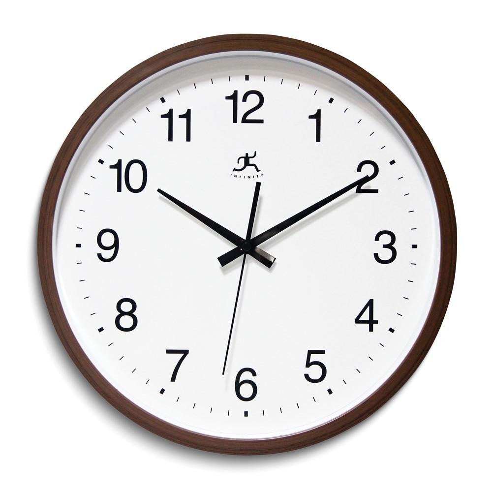 Walnut Finish Wall Clock