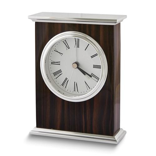 Ebony Wood Finish Alarm Clock
