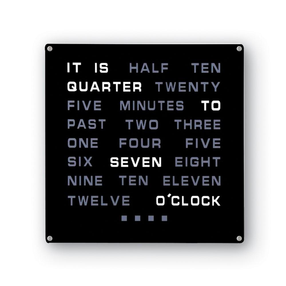 LED Word Wall Clock