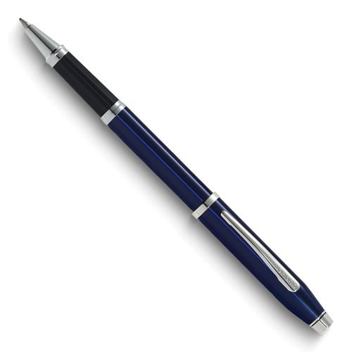 Century II Translucent Blue Lac/Rhodium Rollerball Pen