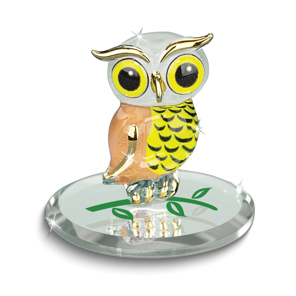 Barn Owl Glass Figurine