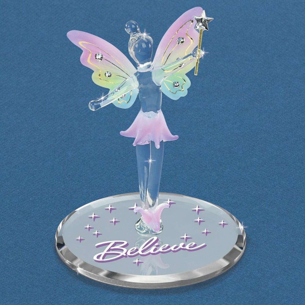 Believe Fairy Glass Figurine