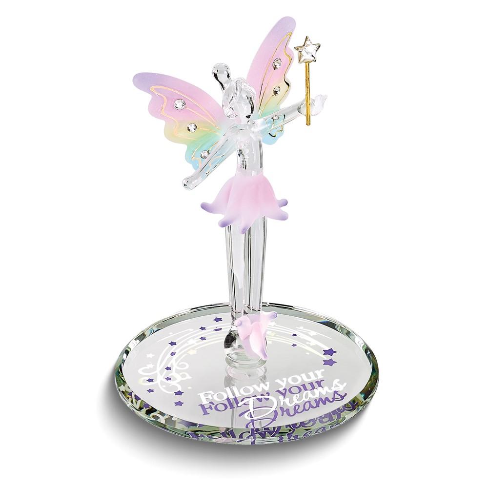 Follow Your Dreams Fairy Glass Figurine