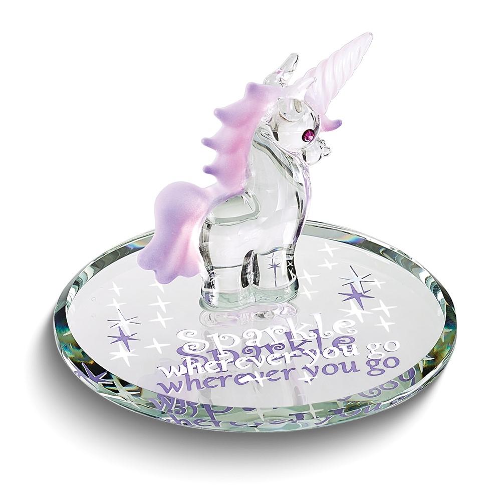 Sparkle Unicorn Glass Figurine