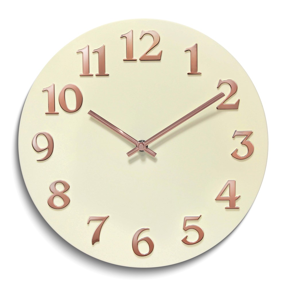 Vogue-Ivory Resin Wall Clock