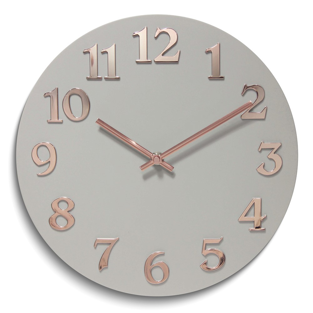 Vogue-White Gold Resin Wall Clock