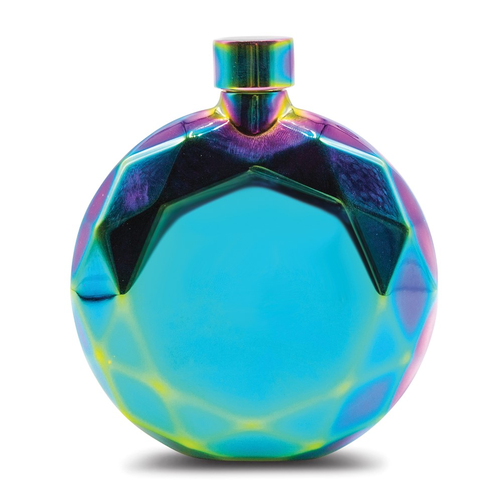 Rainbow Prism Resin Coated 5 oz. Flask