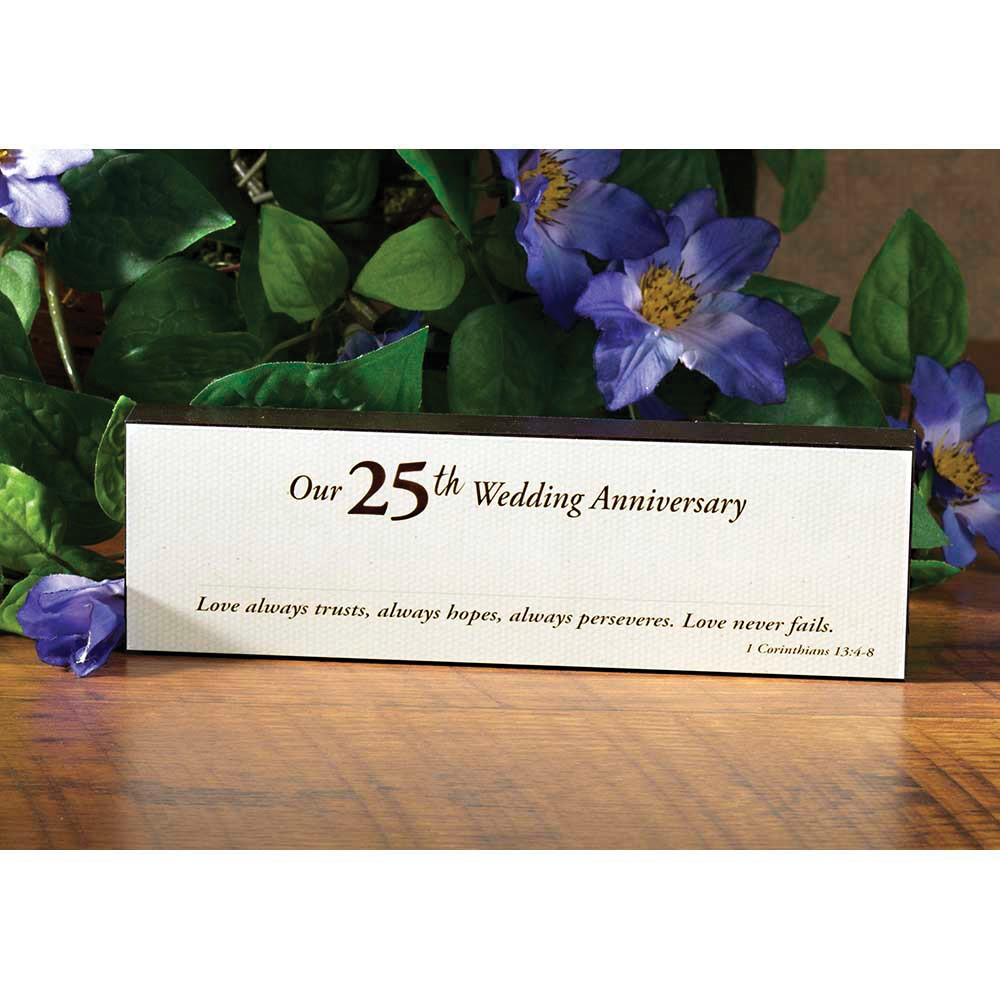 25th Anniversary Tabletop Sign
