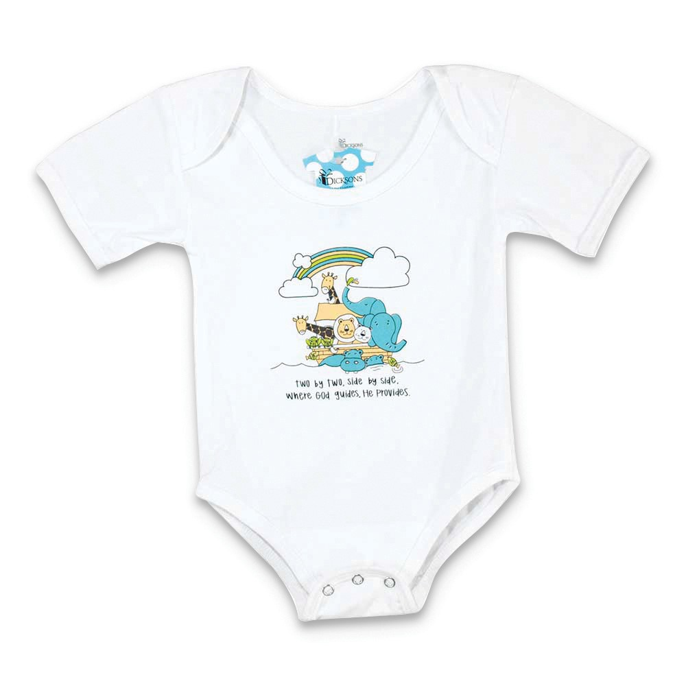 Noahs Ark Two by Two Size 6-12 Months Cotton Snapshirt