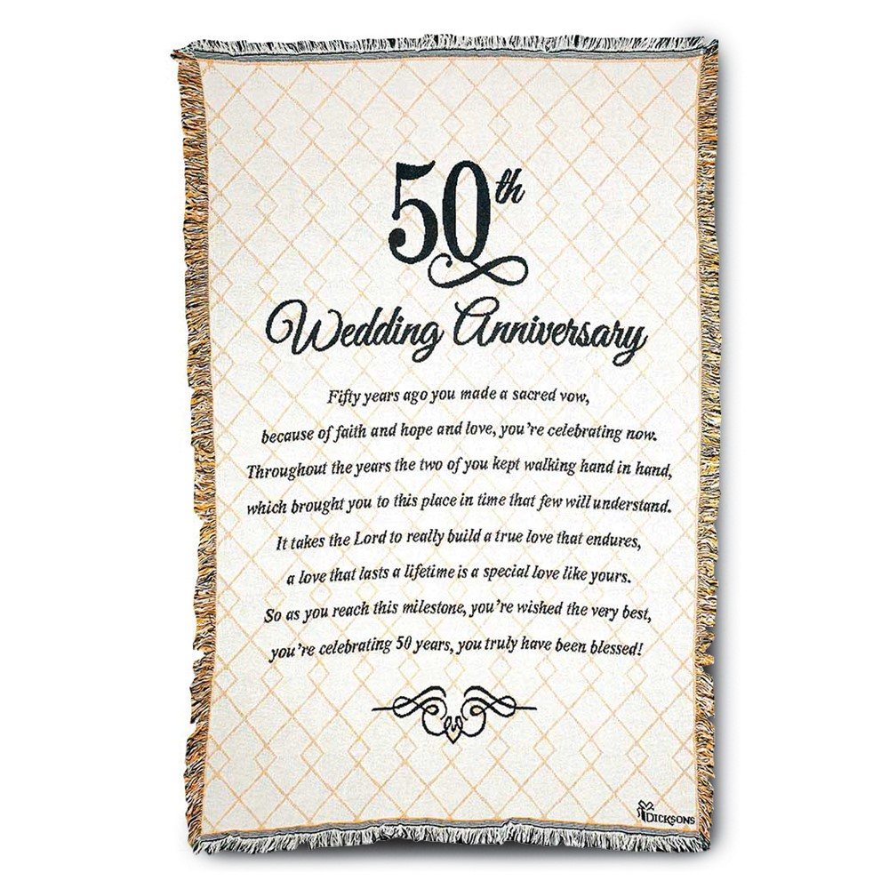 50th Anniversary Poem Tapestry Throw