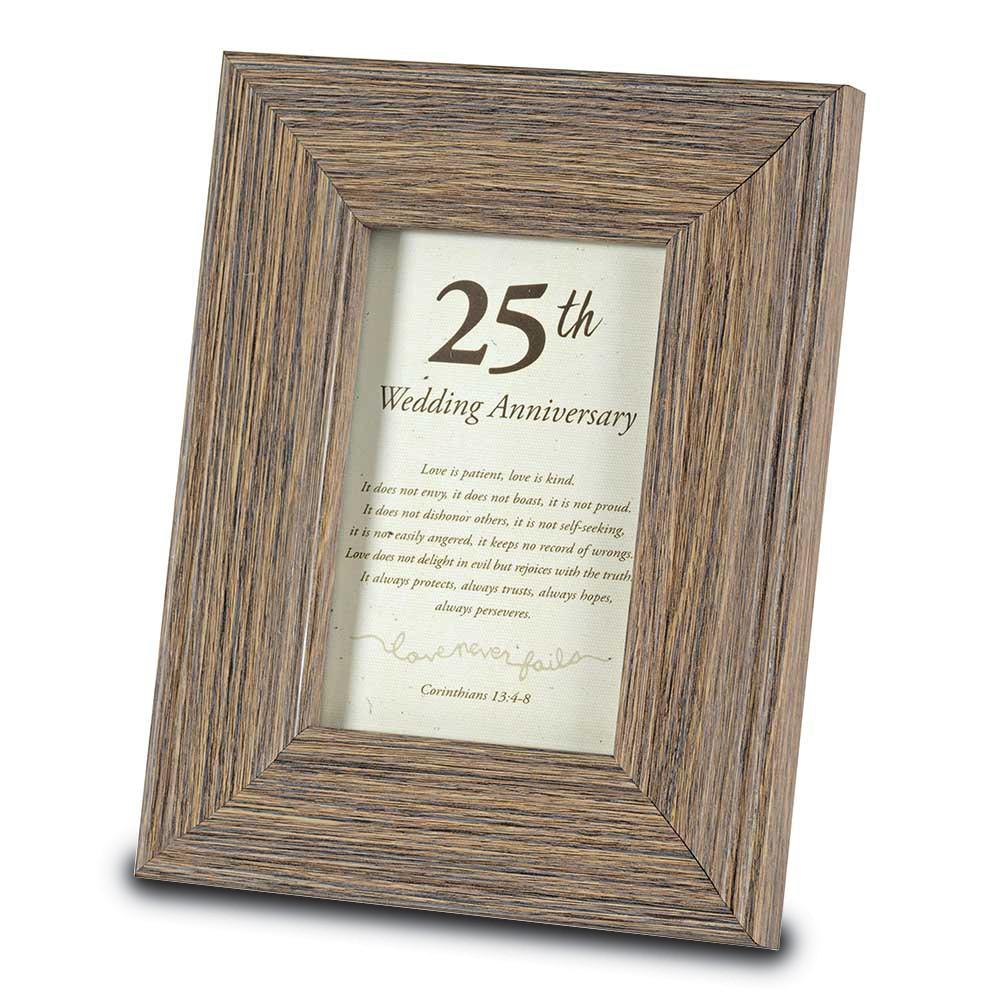 25th Anniversary 4x6 Sentiment Frame