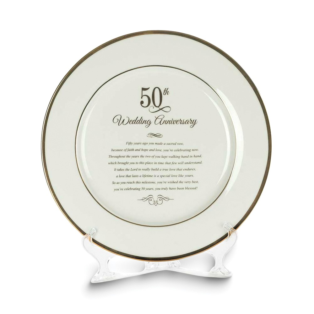 50th Anniversary Porcelain Plate on Easel