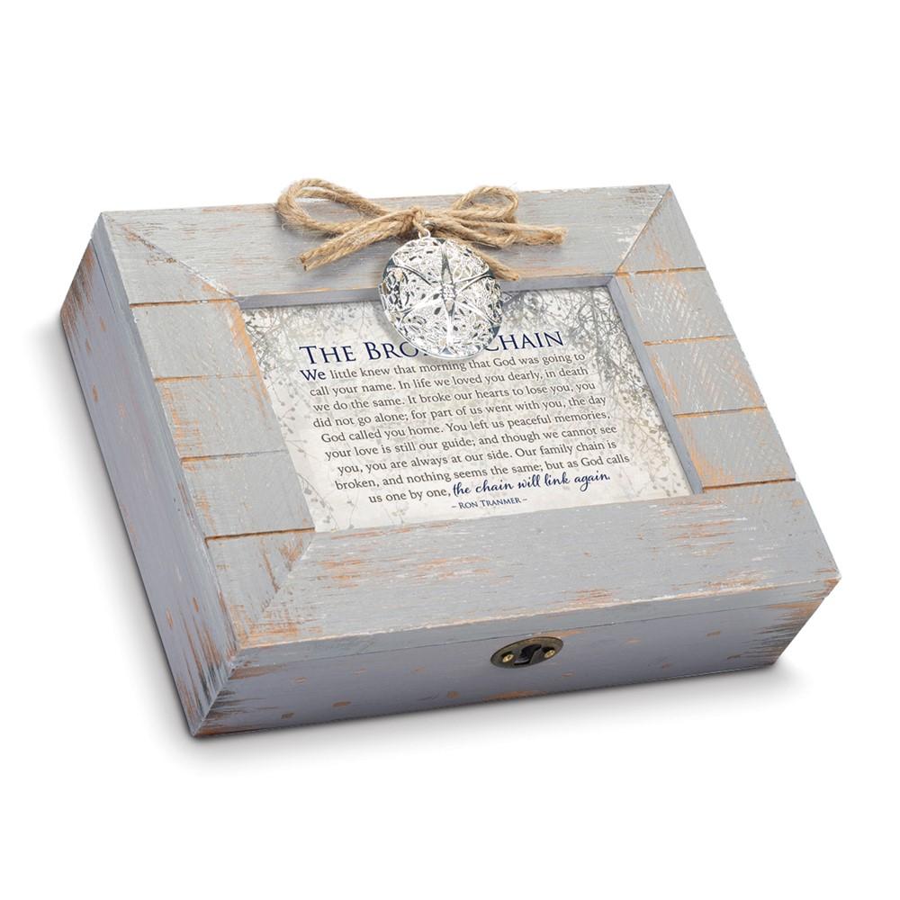 Broken Chain Grey Distressed Locket Box: AMAZING GRACE