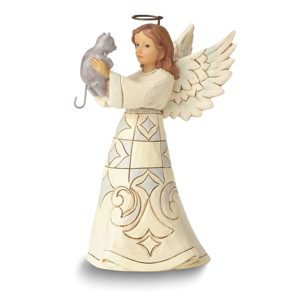 HEARTWOOD CREEK by JIM SHORE Farmhouse Angel with Cat