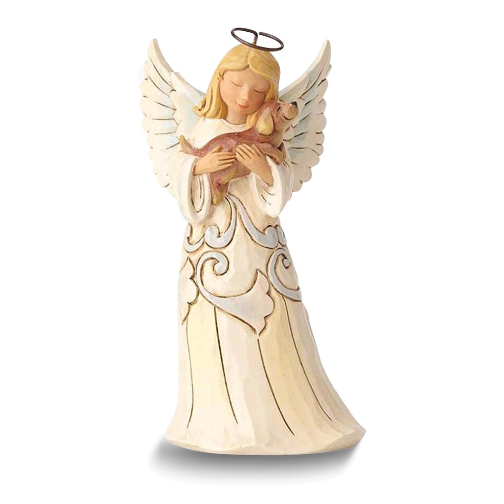 HEARTWOOD CREEK by JIM SHORE Farmhouse Angel with Dog