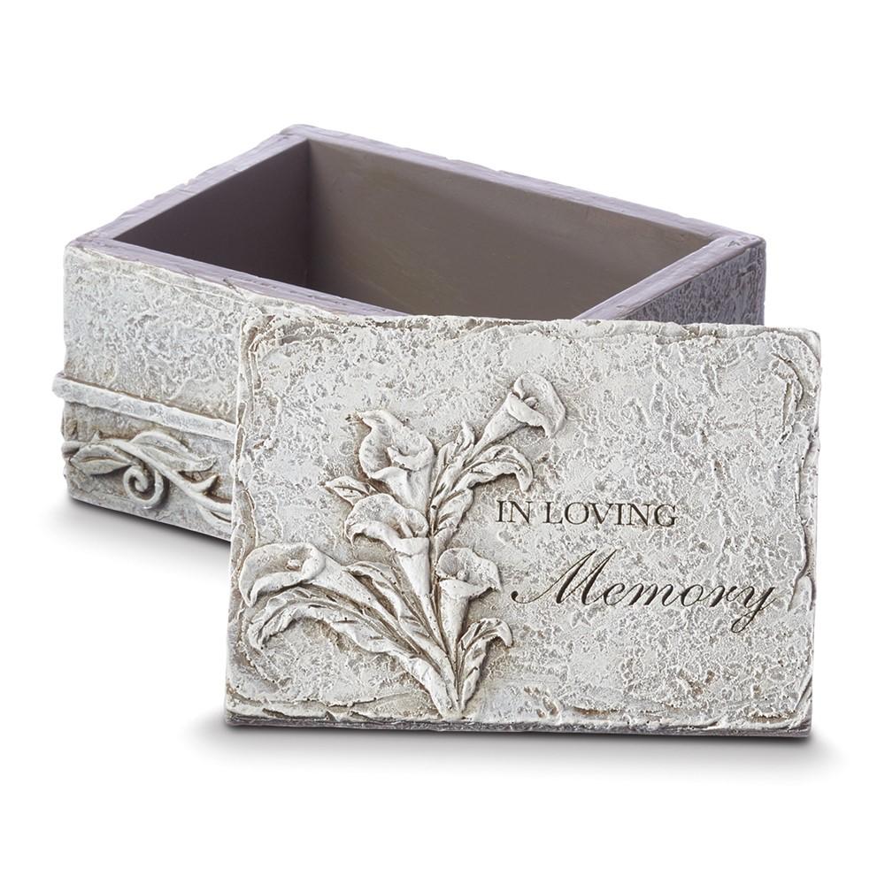 Resin In Loving Memory Keepsake Box