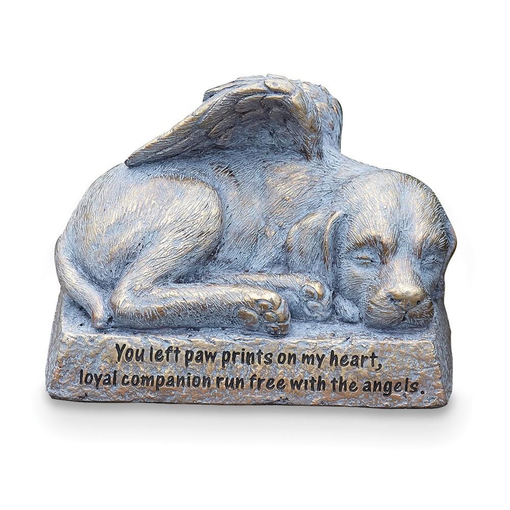 Resin Dog w/Wings Memorial Statue