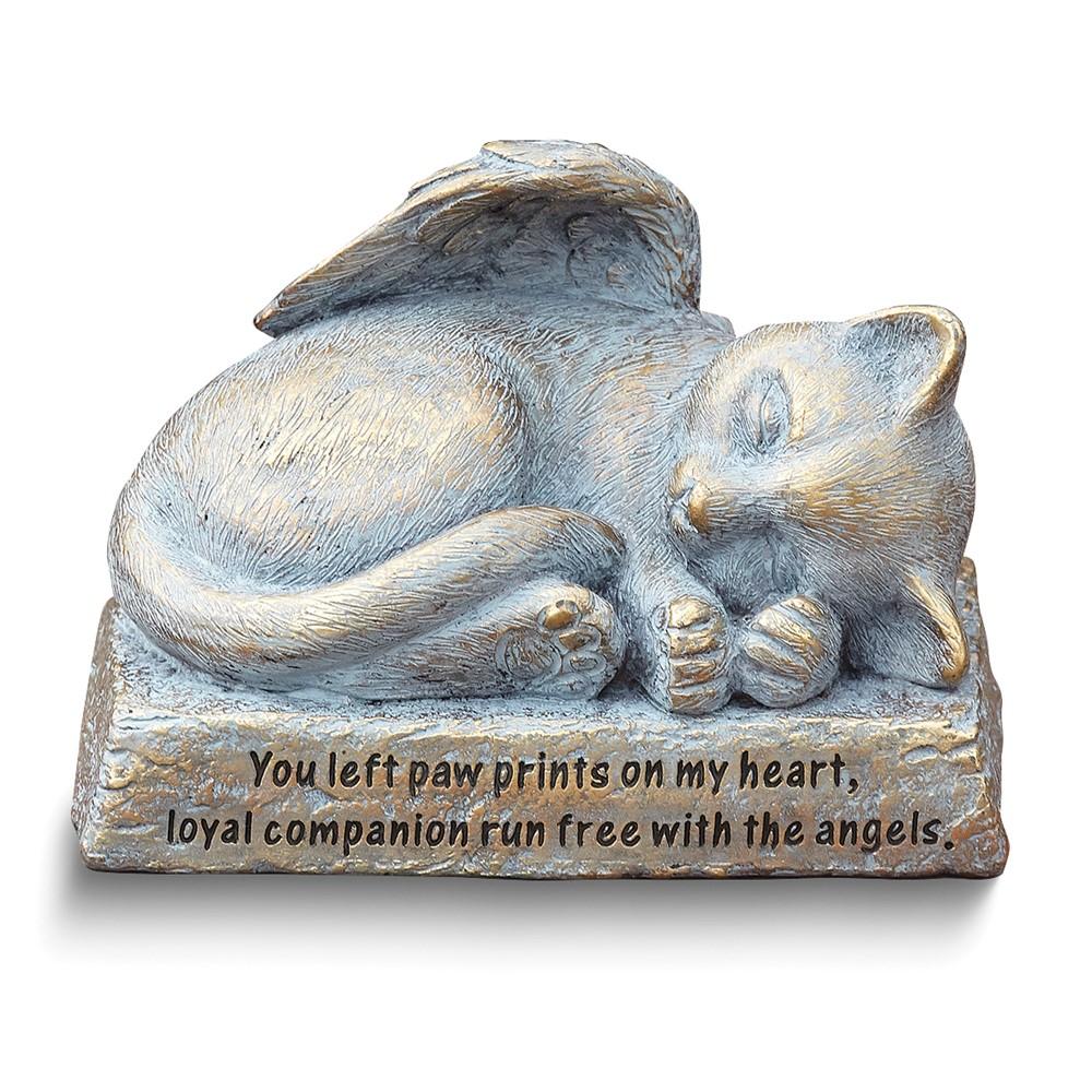 Resin Cat w/Wings Memorial Statue