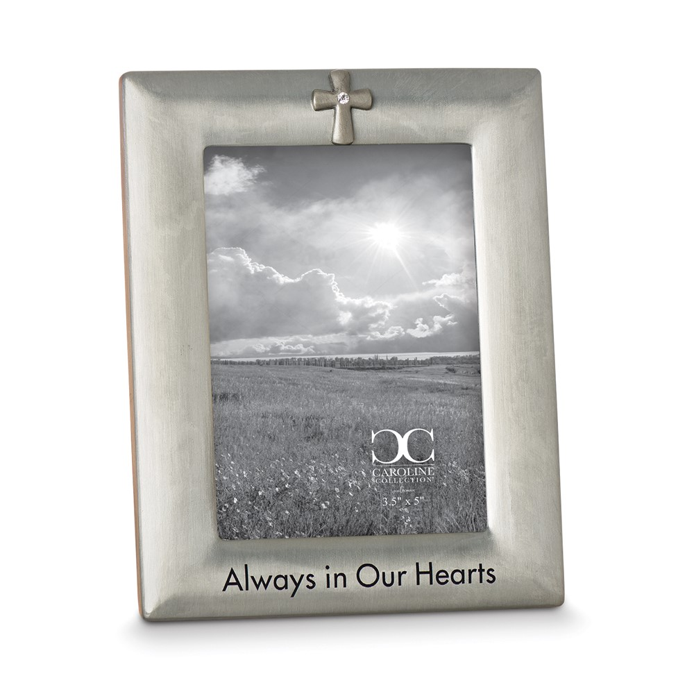 Zinc Alloy Always in Our Hearts 3.5x5 Photo Frame