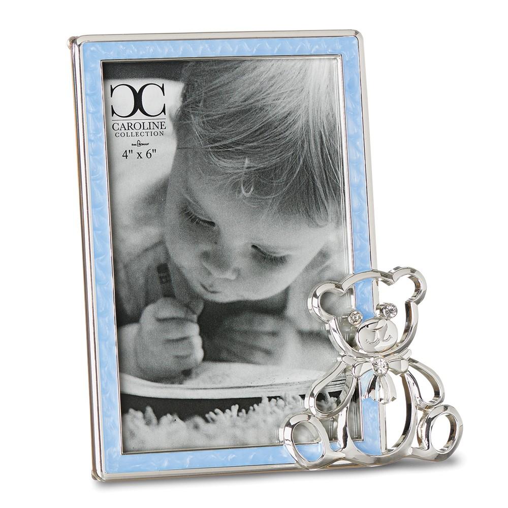 Zinc Alloy Blue Boy 4x6 Frame w/Bear