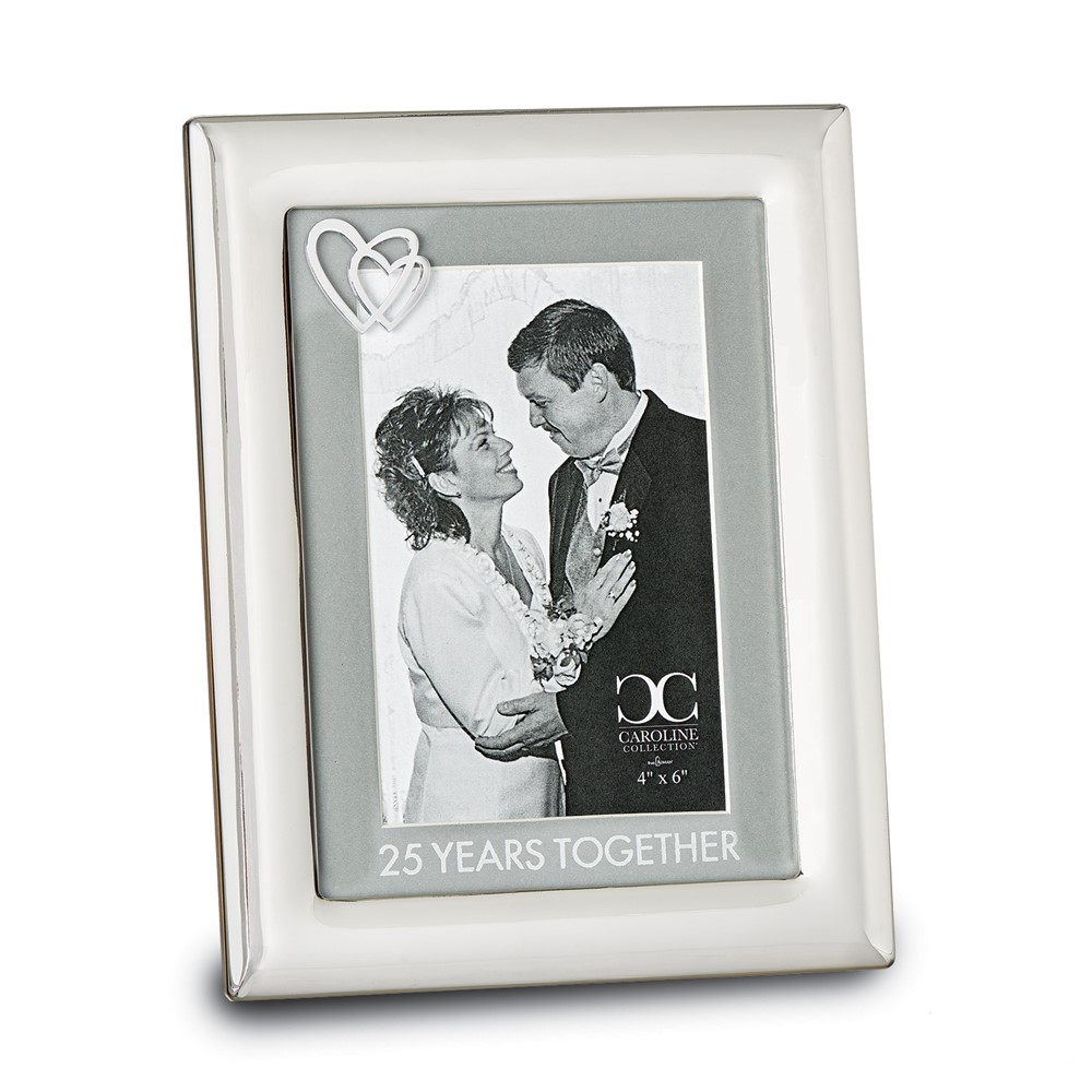 Zinc Alloy 25 Years Together 4x6 Frame
