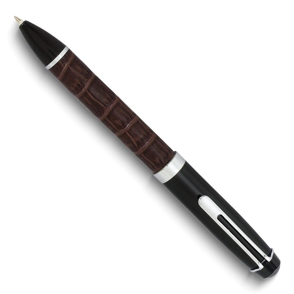 Charles Hubert Brown Croco Texture Ballpoint Pen
