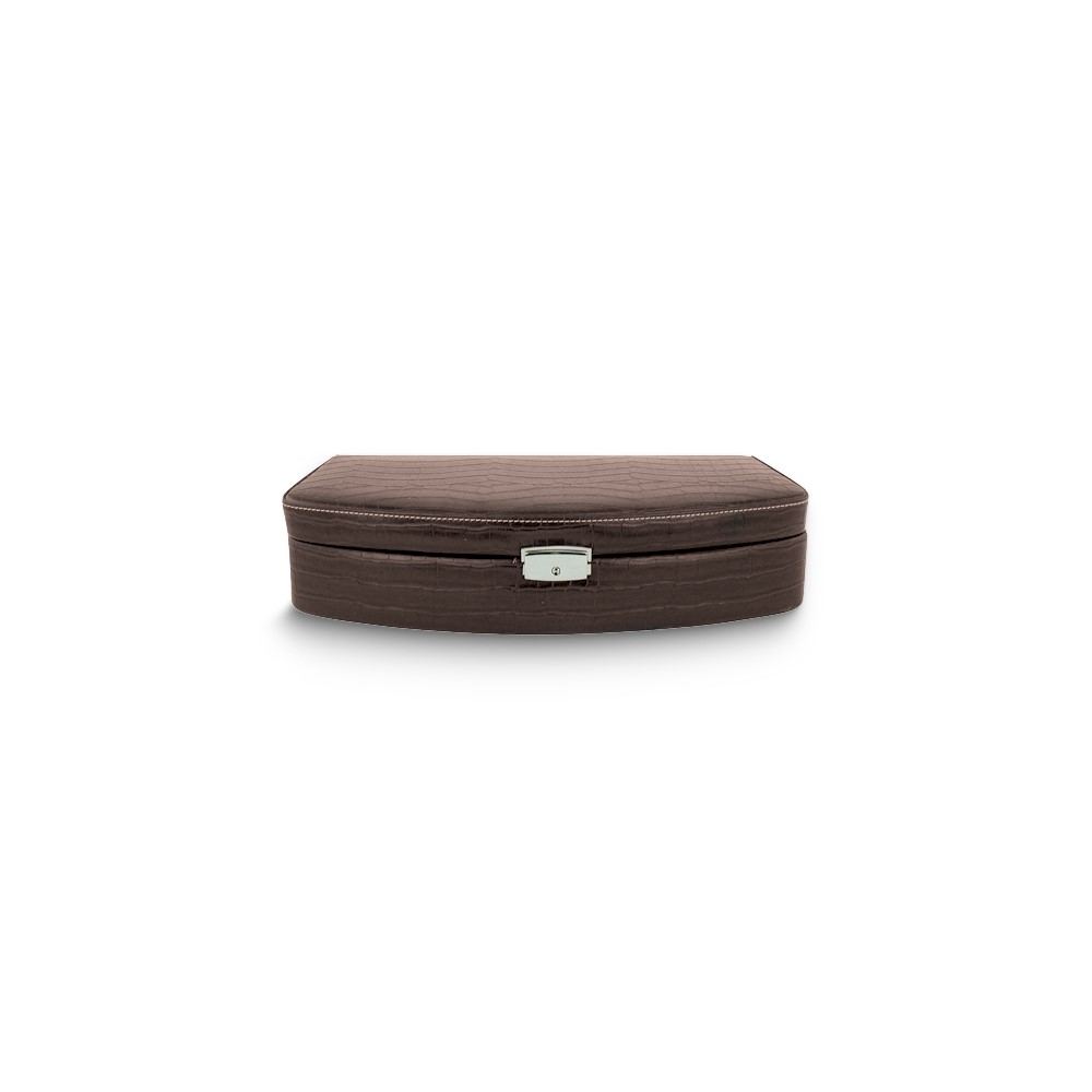 Brown Faux Leather Six Watch Case