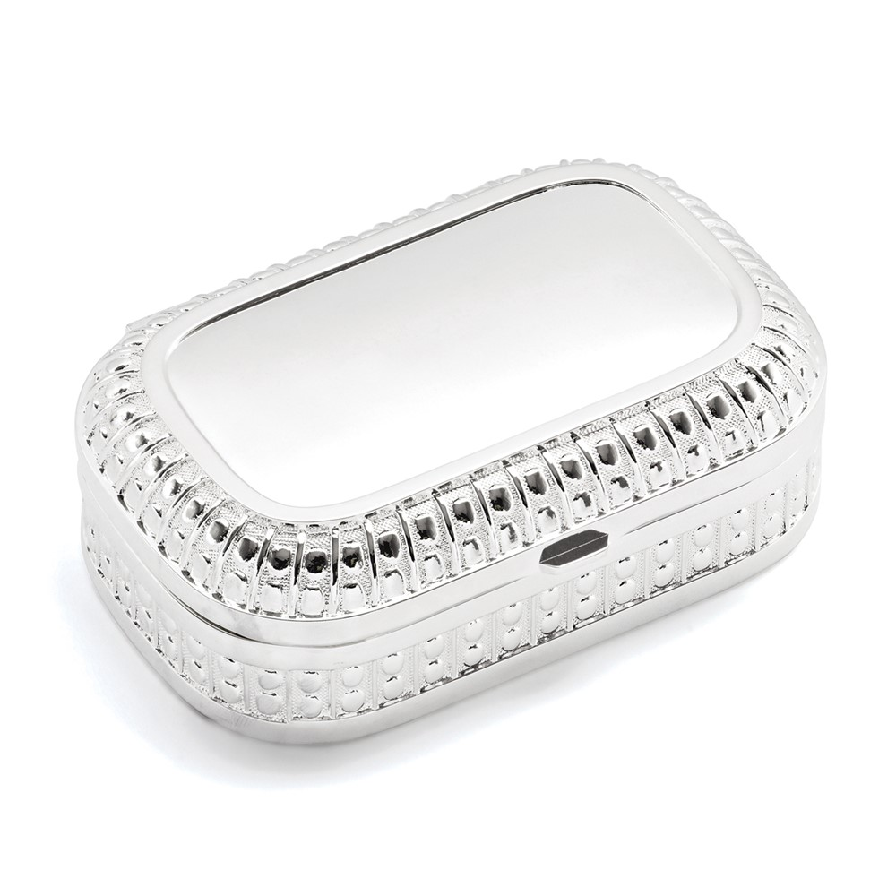 Silver-plated Hinged Lid Jewelry Box
