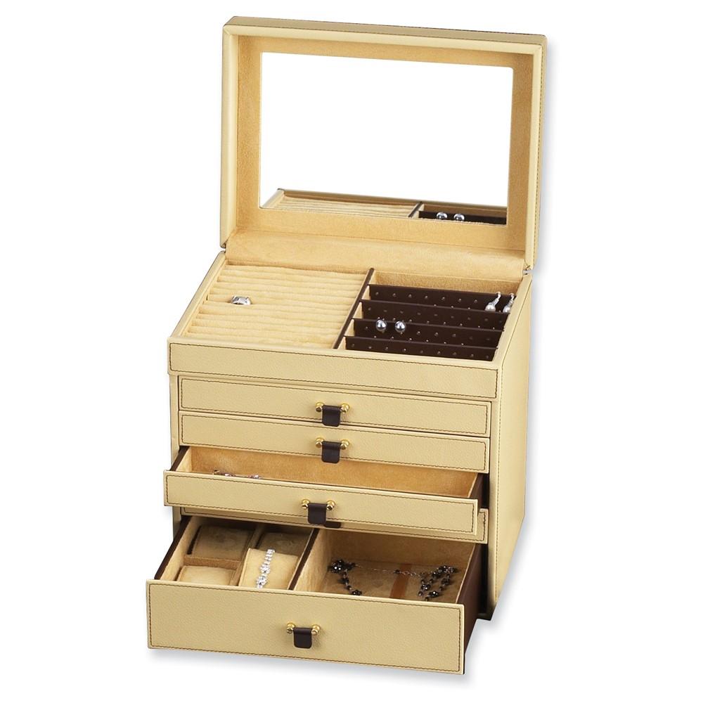 Tan Leather Jewelry Box