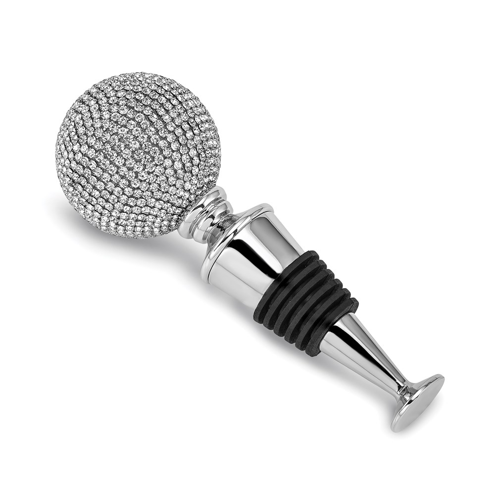 Nickel-plated Crystal Decorated Wine Stopper