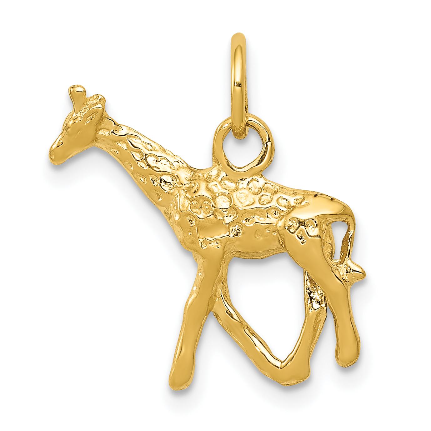 Core Gold 14k Polished Reindeer Pendant