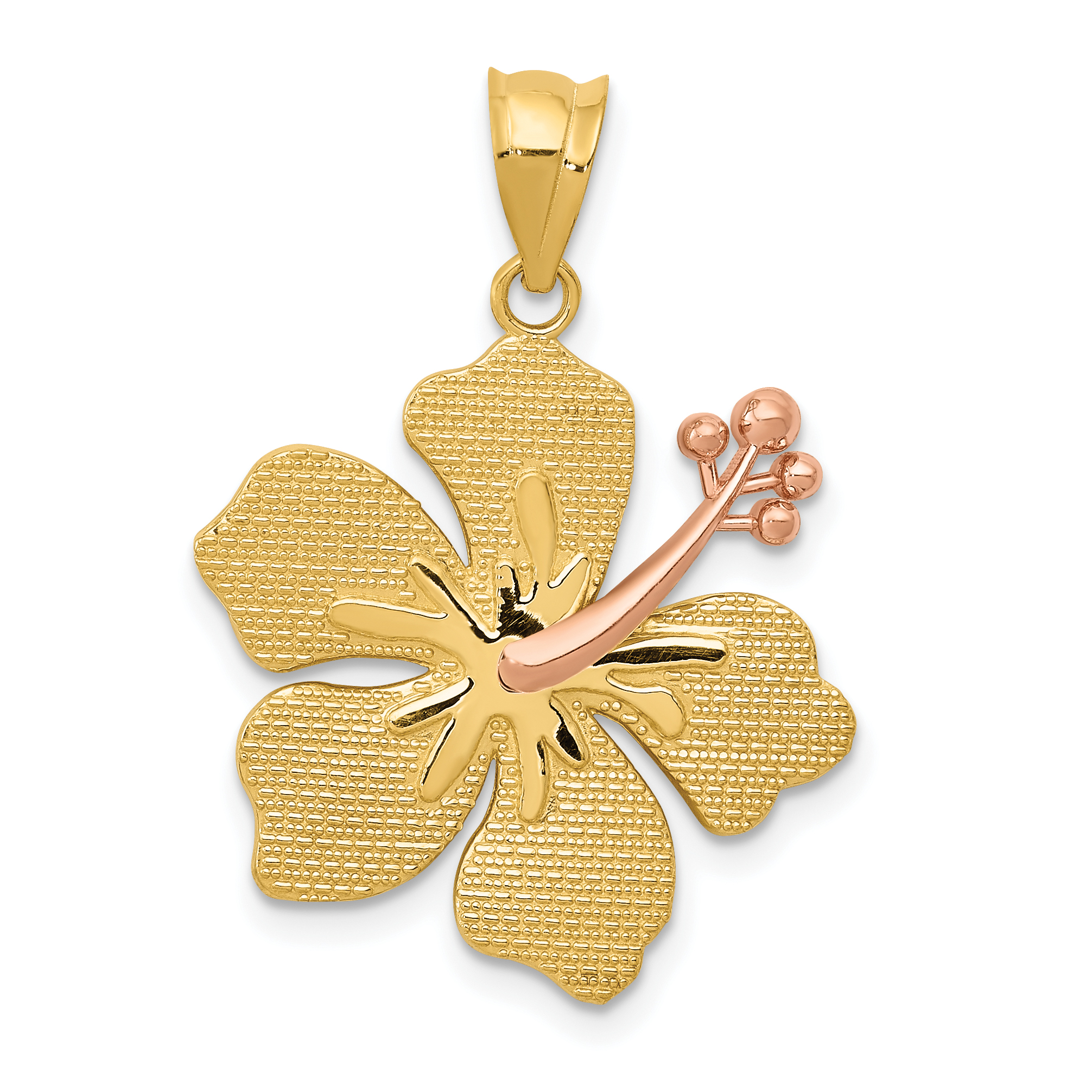 20mm hibiscus flower pendant in 14k yellow and rose gold ebay 20mm hibiscus flower pendant in 14k yellow and rose gold izmirmasajfo